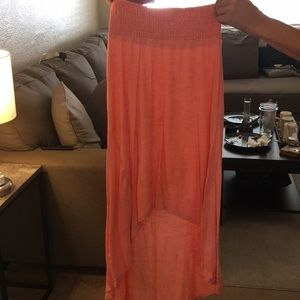 Coral High-Low Skirt